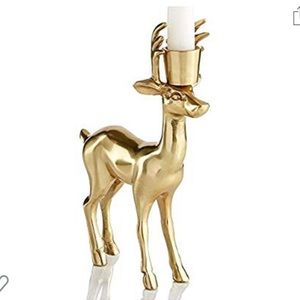 Martha Stewart WINTER WHITE GOLD STAG CANDLE